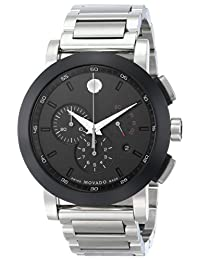 Movado Men's 606792 Museum Sport Chrono Analog Display Swiss Quartz Silver Watch