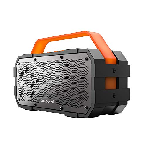 Bluetooth speakers, Bugani M90 Portable Bluetooth Speaker with 30W Stereo Sound and Deep Bass, 1300Min Playtime and Bluetooth5.0 100ft Wireless Range, Support TF Card/AUX, Built-in Mic, for Home Get t