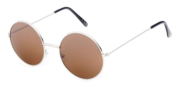 Sonnenbrille große Round Glasses John-Lennon-Style 400 UV Metall verspiegelt