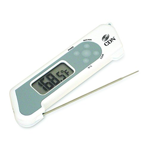CDN TCT572-W ProAccurate Digital Instant Read Folding Thermocouple Cooking Thermometer-NSF Certified White