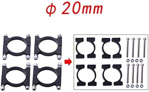Leya Camera Spare Parts 20mm Pipe Clamp HJ-1100P Carbon Fiber Retractable Landing Gear Skid Set for DJI S800 S800 EVO Multicopters