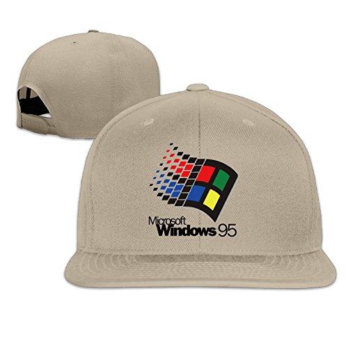 Cool Unisex Windows 95 Baseball Cap Lightgrey