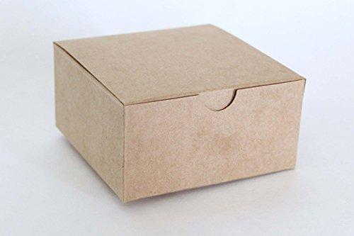 Kraft Favor or Gift Box 4 X 4 X 2 | 12 Ct