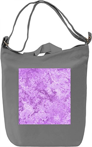 Purple Print Borsa Giornaliera Canvas Canvas Day Bag| 100% Premium Cotton Canvas| DTG Printing|