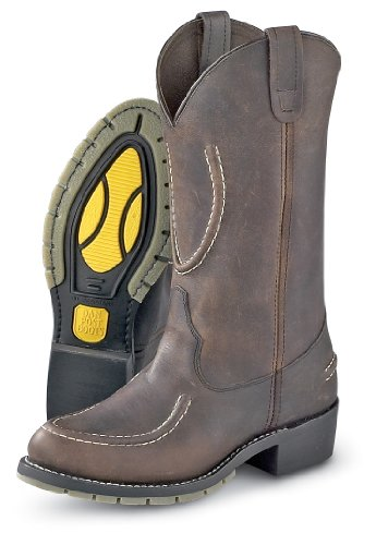 Dan Post Menns Cognac Cowboystøvler Lær Cowboy Boots Firkantet Tå Cognac