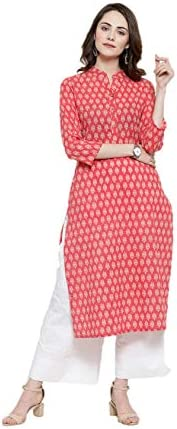 HSD Kurta Sets for Women Indian Ethnic Designer Printed Straight Kurti with Palazzo