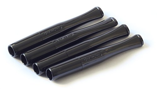 4 x DENICOTEA cigarette holders Standard Black color]()