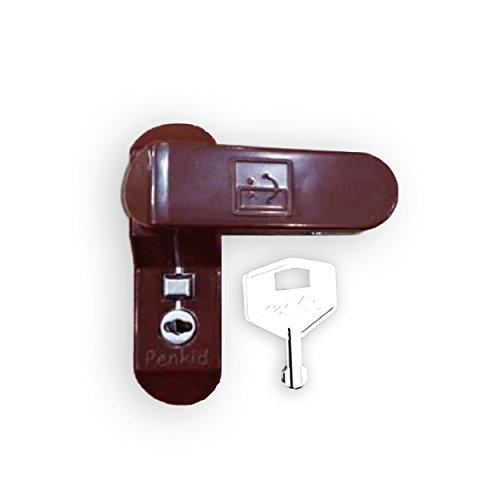 ComfoRED- Home Security Window Door Restrictor Sash Jammer with Lock (Dark Brown)