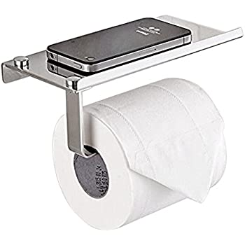Amazon.com: mDesign Toilet Paper Holder with Shelf for