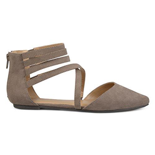 Brinley Co Women's Mirin Flat Sandal, Taupe, 10 Regular US from Brinley Co