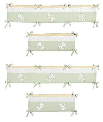 Green Dragonfly Dreams Collection Crib Bumper by Sweet Jojo (Dragonflies Bedding Collection)
