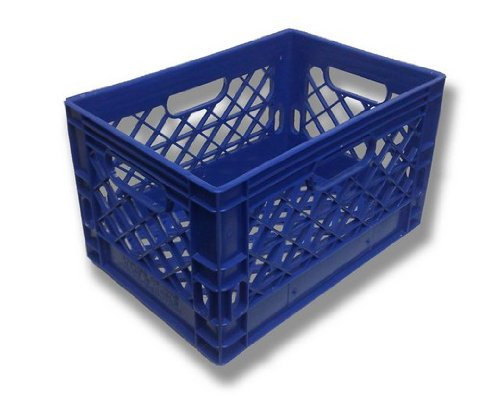 Farmplast 24 qt Milk Crate, Blue 24qt Blue Color