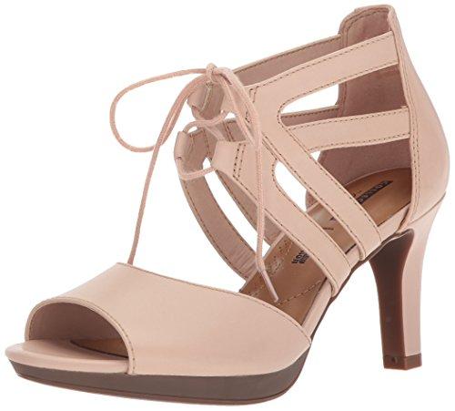 para Plataforma cuero Mujer Clarks Leather Adriel Cream Elaina C8avxFtq