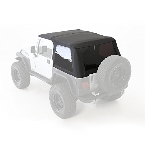 Jeep 01 Top Wrangler (Smittybilt 9973235 Bowless Combo Soft Top)