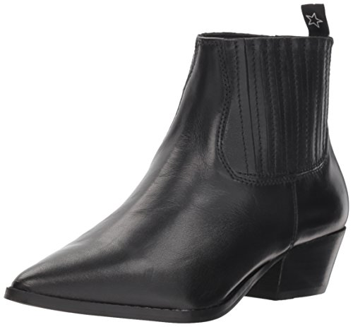 Womens Pointed Toe Boots - Steve Madden Women's Westie Western Boot, Black Leather, 7 M US