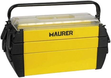 MAURER 2240001 Caja herramientas metálica, 450x200x200 mm: Amazon.es: Bricolaje y herramientas