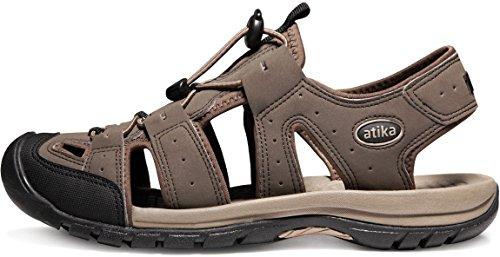 ATIKA AT-M108-CBN_Men 9 D(M) Men's Sports Sandals Trail Outdoor Water Shoes 3Layer Toecap M108 by ATIKA (Image #9)