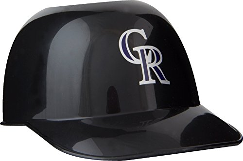 Official MLB Mini Baseball Helmet 8oz Ice Cream/Snack Bowls, 1 Count, Colorado Rockies