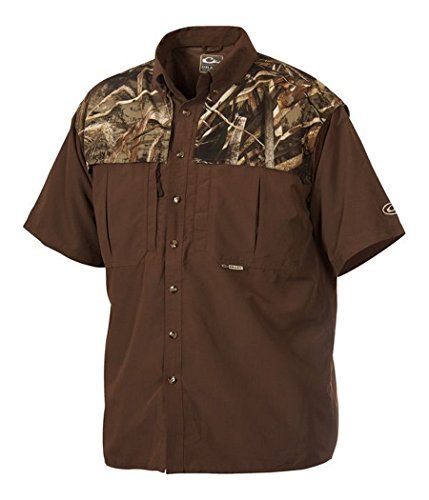 Drake-Mens-EST-Two-Tone-Vented-Wingshooters-Shirt-Short-Sleeve