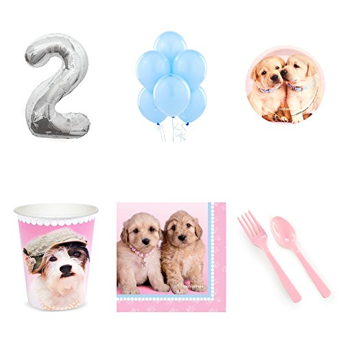 - Rachael Hale Glamour Dogs 2nd Birthday Party Supplies Pack for 16