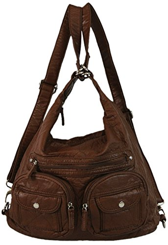 vegan-leather-purse-convertible-straps-backpack-style-with-lots-of-pockets-brown