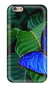 For AmandaMichaelFazio Iphone Protective Case, High Quality For Iphone 6 Nice Blue Butterfly Skin Case Cover