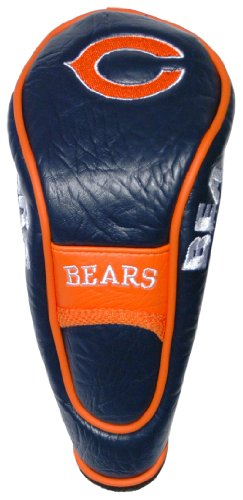 (Team Golf NFL Chicago Bears Hybrid Golf Club Headcover, Hook-and-Loop Closure, Velour lined for Extra Club Protection)