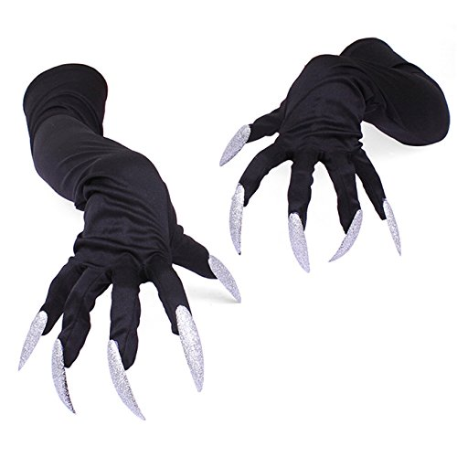 Claw Machine Costumes (Halloween Creepy Wolf Gloves Paws Claws Cosplay for Costume Party)