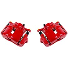 CK00337 [ 2 ] FRONT Performance Grade Red Powder Coated Semi-Loaded Caliper Assembly Pair Set