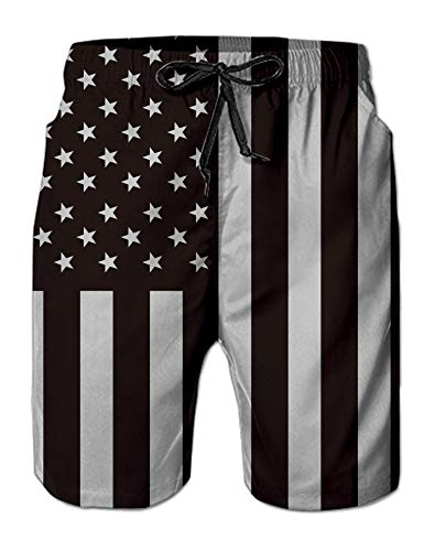 e4a669c531ed0 Leapparel Funny American Flag Pattern Swim Trunks for Men Hawaiian 3D  Printed Designer Bathing Suit Swimwear