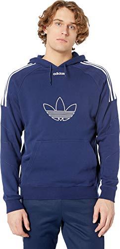 adidas Originals Men's Flock Hoodie Dark Blue ()