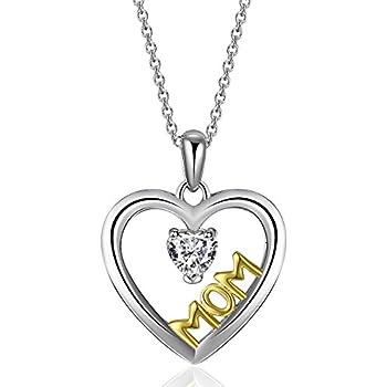 Amazon.com: Caperci Sterling Silver Two-Tone Diamond