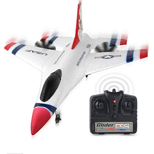 RC Airplane, Sacow FX-823 2.4G 2CH RC Airplane Glider Remote Control Plane Outdoor Aircraft (A)