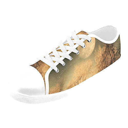 Artsadd Full Moon Canvas Shoes For Women(Model016) Ou0N327mq