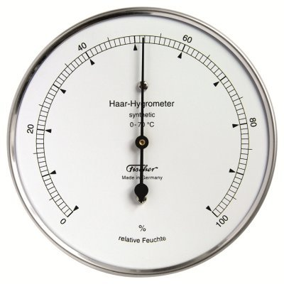 Hair Hygrometer (Ambient Weather 122-01 Fischer Instruments Precision Synthetic Hair Hygrometer)