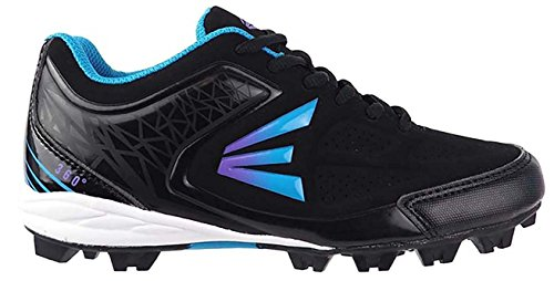 Easton 360 Low Girls' Baseball Cleats (Black/Blue/Purple, 9 M US (Low Softball Shoe)