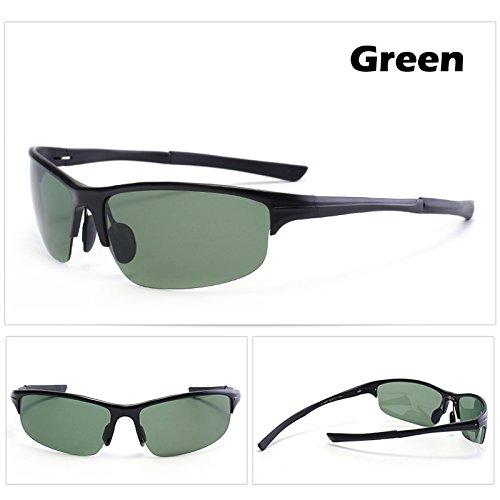 aluminio de macho gafas espejo de gafas magnesio TIANLIANG04 Guía de Los verde gafas polarizado UV400 macho Verde Gafas hombres Estilo qFX74Wt0A