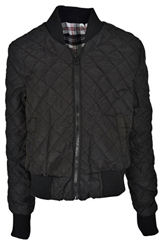 Girls Quilted Bomber Jacket - 1