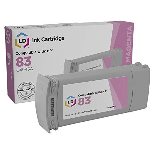 (LD Remanufactured Ink Cartridge Replacement for HP 83 C4945A (Light Magenta))