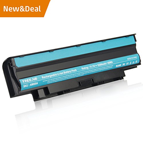 J1KND Battery High Performance for Dell Inspiron 3420 3520 13R 14R 15R 17R N3010 N4010 N5010 N7010 M5110 M4110 M501 M503, DELL TYPE: 04YRJH 383CW 06P6PN 07XFJJ 451-11510 312-0233 - 24 Months Warranty by AC Doctor INC