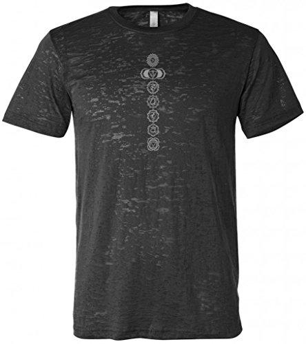 Yoga Clothing For You 7 Chakras Mens Burnout Tee Shirt