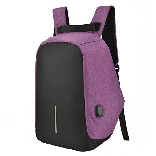 Anti Paquete De Oxford Bolsa Deportes Tela De Estudiante De Hombro Purple Mochila Bolso De De De Robo Ordenador Casual Bolsa De qUMaw
