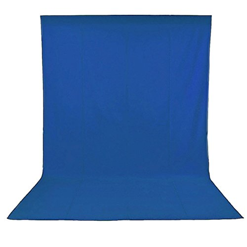 Longda Blue 6x9 feet/1.8x2.8 Meters Photo Studio 100 Percent Muslin Collapsible Backdrop Background for Photography, Video and Television (Background Only)