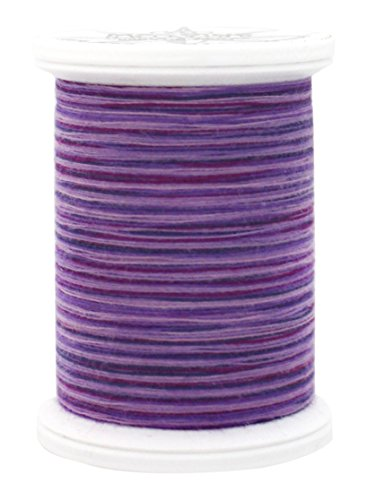 YLI 24450-09V 3-Ply 40wt T-40 Cotton Quilting Variegated Thread, 500 yd, Purple