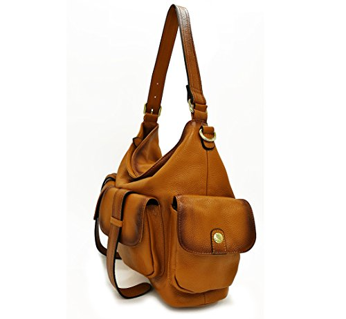 Strap Shoulder with Leather Genuine Hobo Long La Crossbody Convertible Poet Women��s Bag wxagq1RP