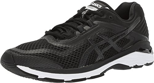 Stability Control Running Shoe 6 - ASICS GT-2000 6 Men's Running Shoe, Black/White/Carbon, 12.5 M US