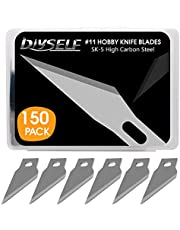 DIYSELF 150 PCS Hobby Knife Blades, High Carbon Steel #11 Refill Craft Art Blades Cutting Tool with Storage Case for Craft, Hobby, Scrapbooking, Stencil