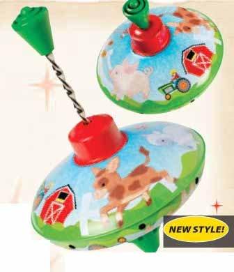 Toysmith TSM5392 Farm Top Toy