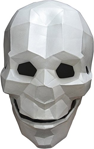 Latex Full Face Low-Poly Skull Mask