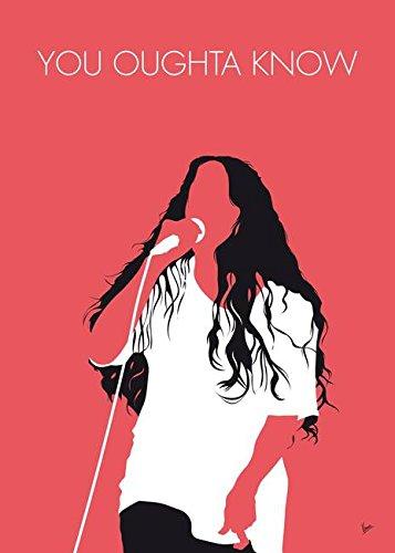Imagekind Wall Art Print entitled No152 MY Alanis Morissette Minimal Music Poster by Chungkong Art   16 x 22